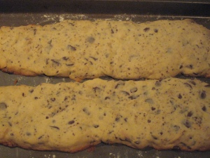 biscotti on the pan