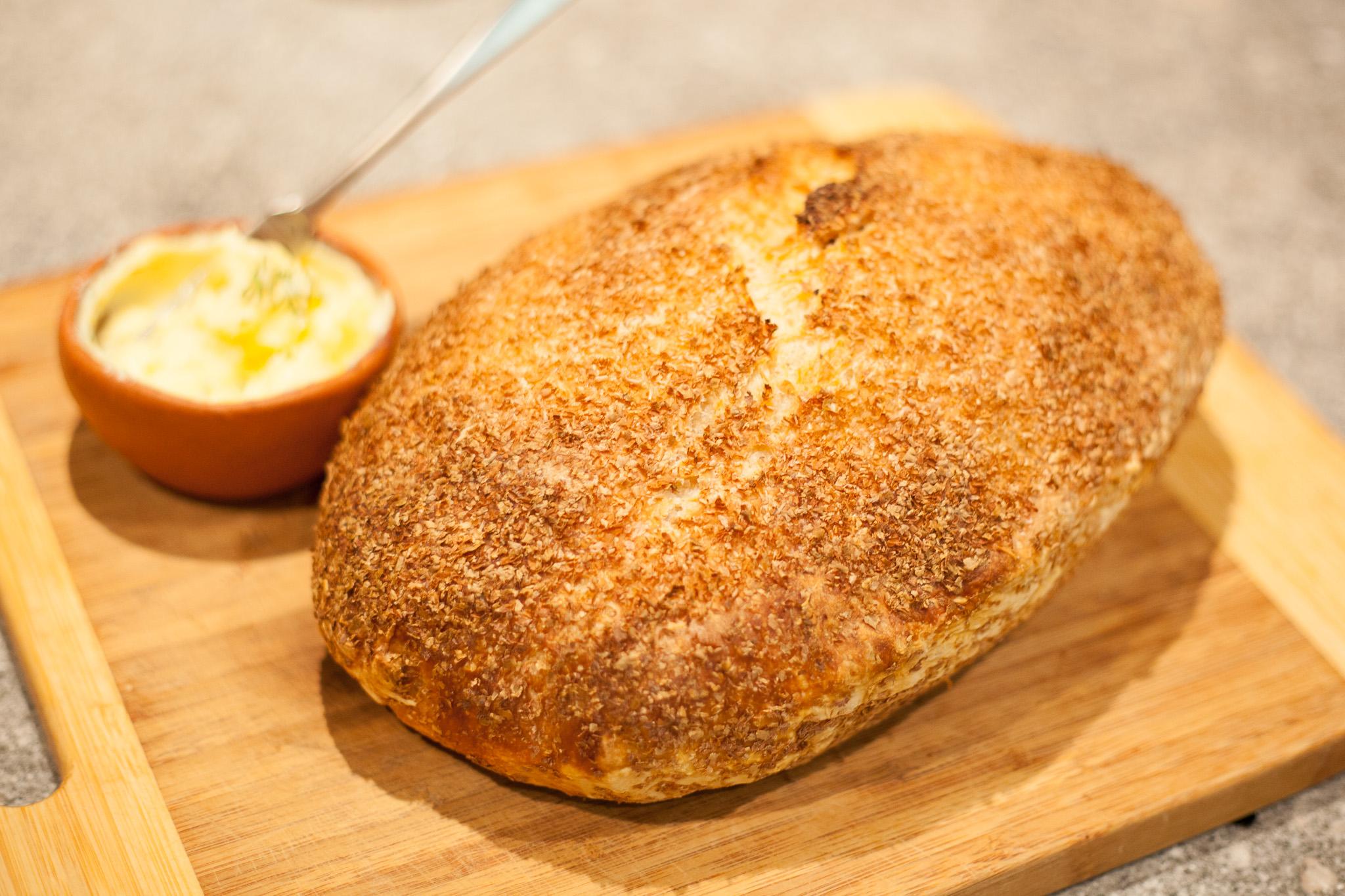 trust in kim - no-knead bread