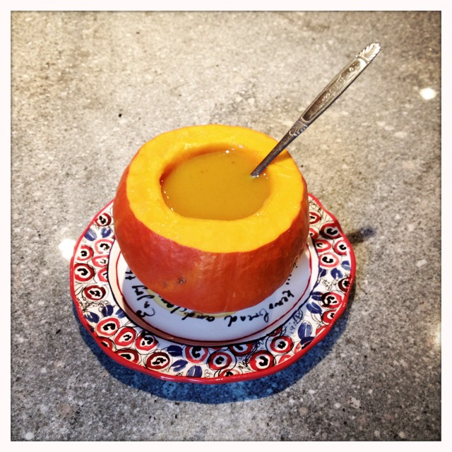 butternut squash soup -trust in kim