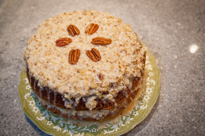 trust in kim - german chocolate cake