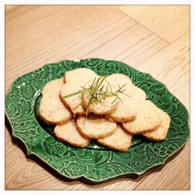 trust in kim - parmesan rosemary savoury shortbread