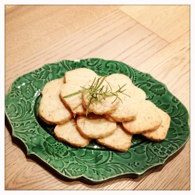 trust in kim - parmesan rosemary savoury shortbread
