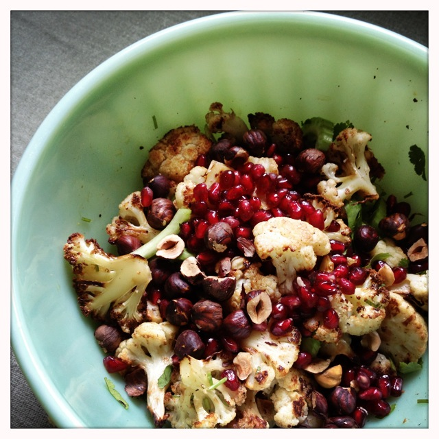 Roasted Cauliflower and Hazelnut Salad - trust in kim
