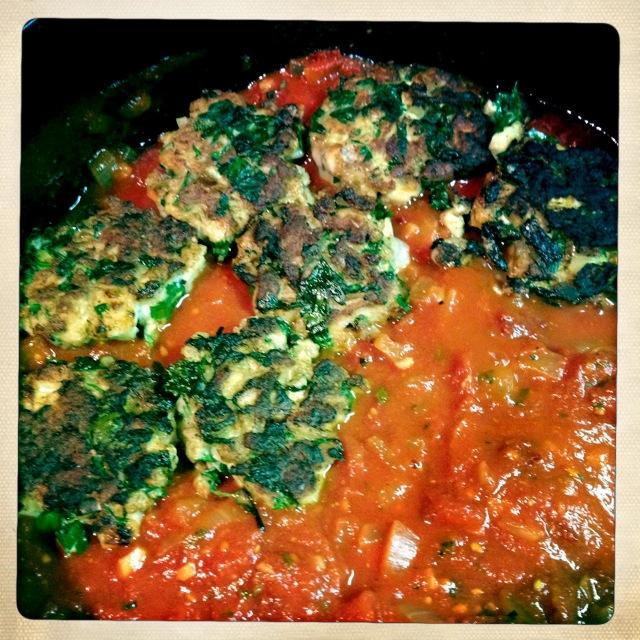 cod cakes in tomato sauce - trust in kim