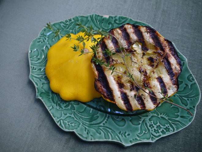grilled pattypan squash - trust in kim