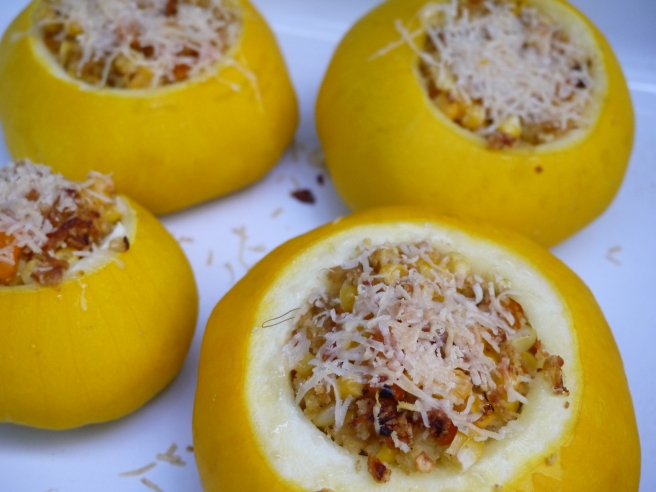 stuffed patty pan squash - trust in kim