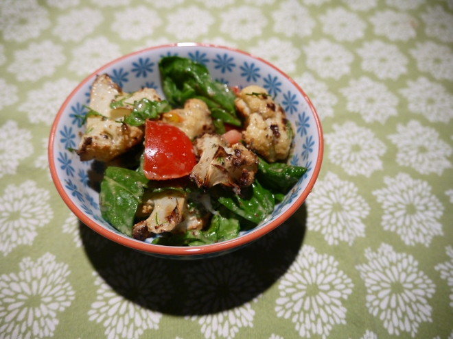 Roasted Cauliflower with dill, tomatoes and capers - trust in kim
