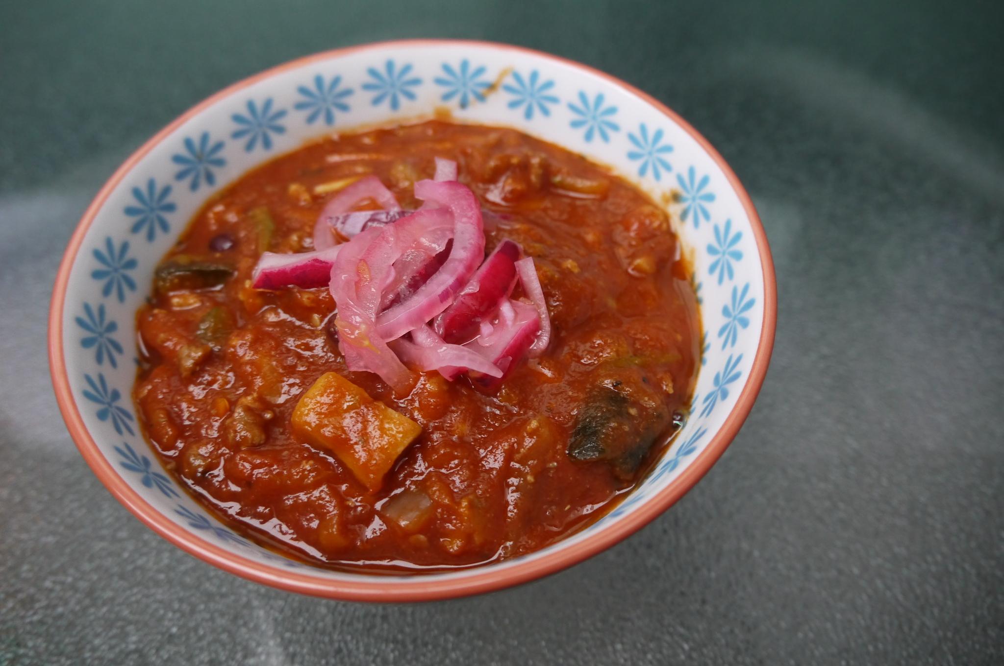 Turkey and Chocolate Chili - trustinkim