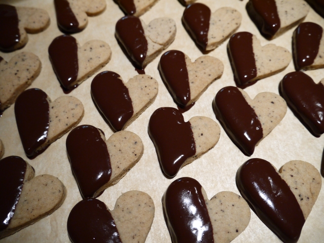 chocolate dipped espresso shortbread - trust in kim
