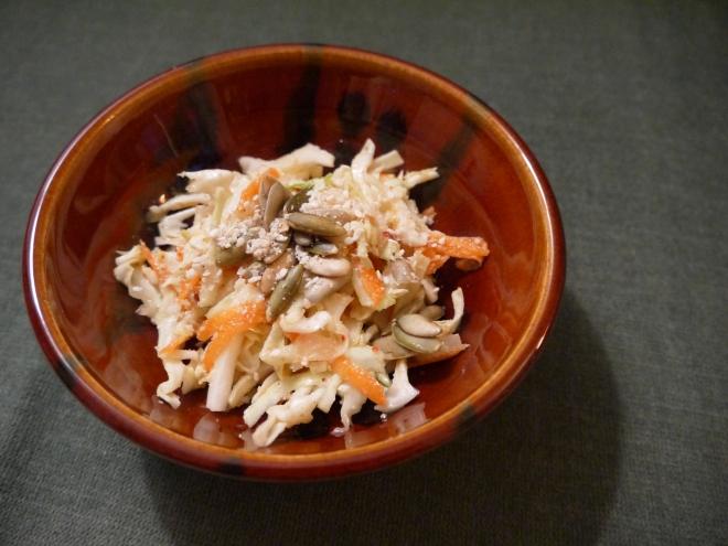 seedy tahini coleslaw - trust in kim