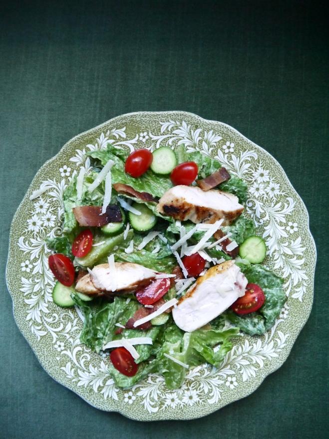 chicken caesar salad - trust in kim