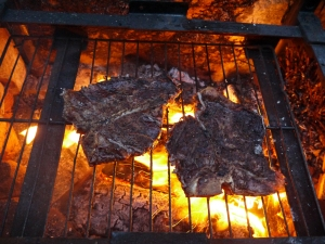 grilled porterhouse steaks - trust in kim