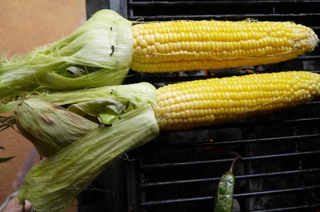 grilled corn on the cob - trust in kim