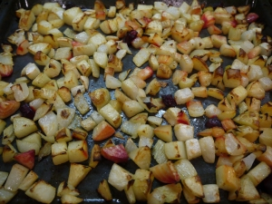 roasted vegetables - trust in kim