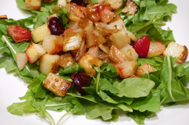 roasted vegetable salad - trust in kim