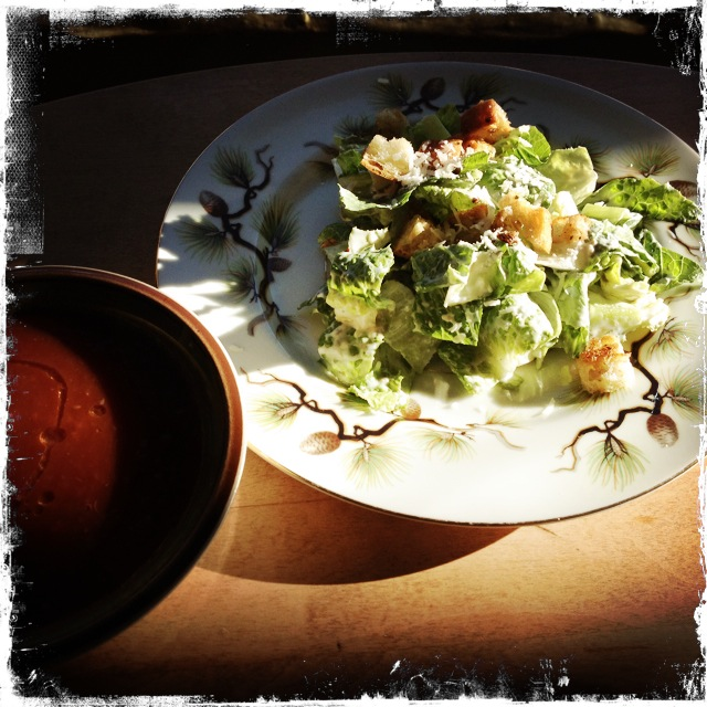 light caesar salad - trust in kim