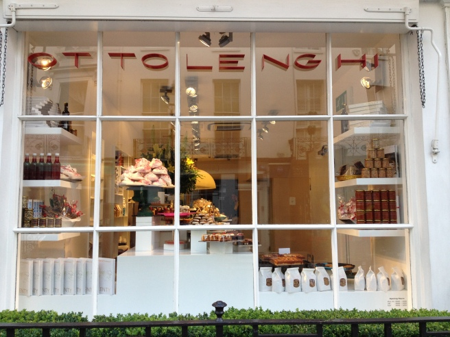 Yotam Ottolenghi's shop on Motcomb Street in London from my visit in July 2014