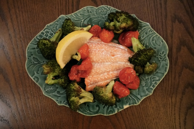 easy salmon dinner - trust in kim