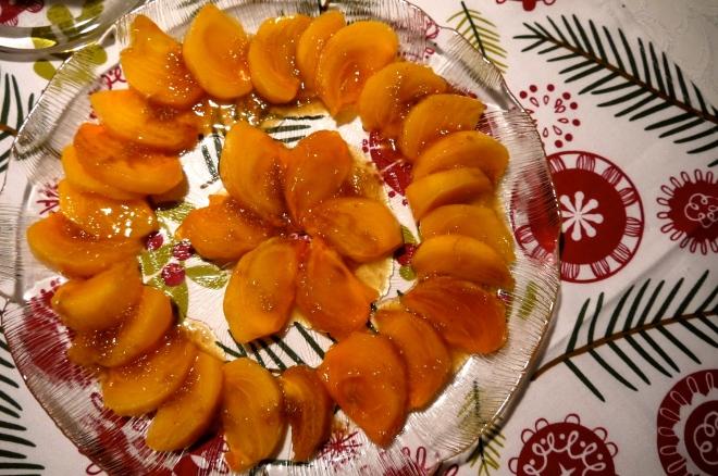 persimmon salad - trust in kim