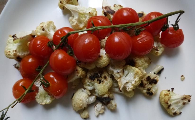 Roasted Cauliflower and CherryTomatoes