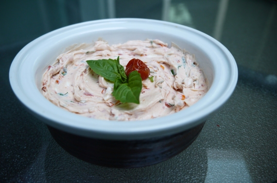 sun-dried tomato cream cheese spread - trust in kim
