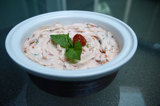 sun-dried tomato cream cheese spread - trust in kim