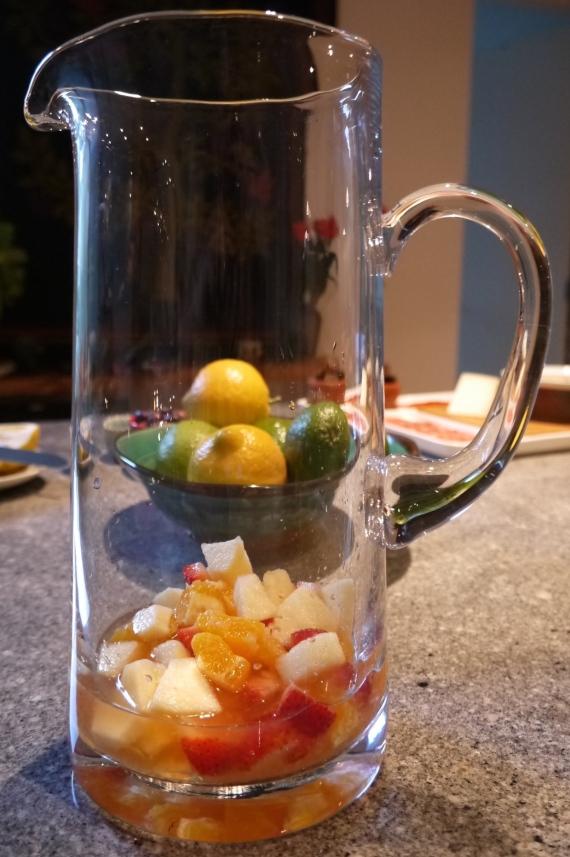 fruit in glass jug - trust in kim
