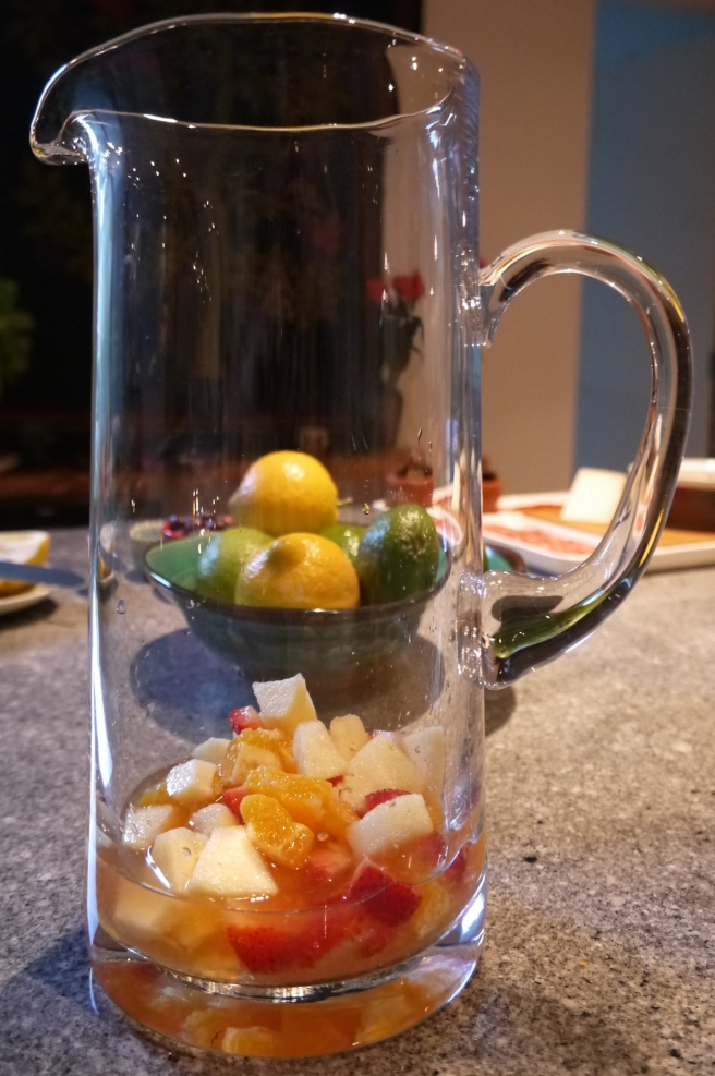 fruit in glass jug - trust in kim