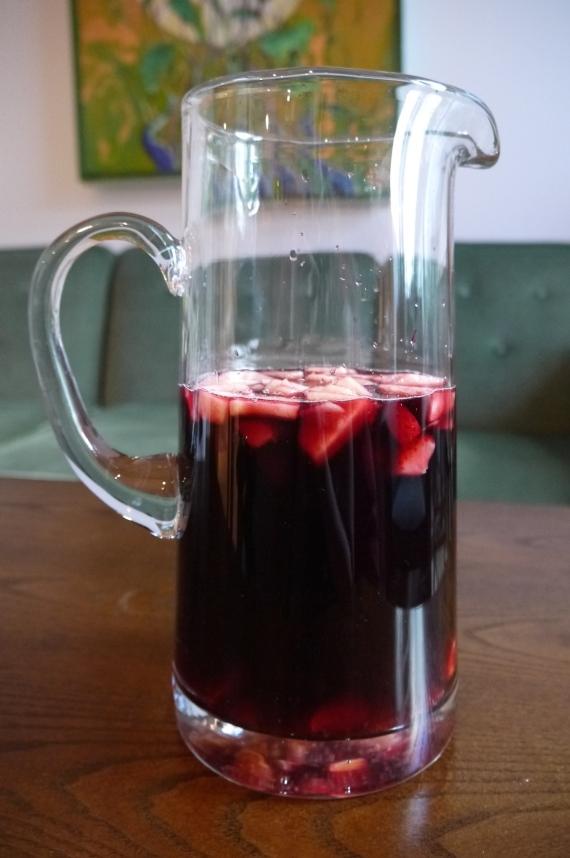 red wine sangria - trust in kim