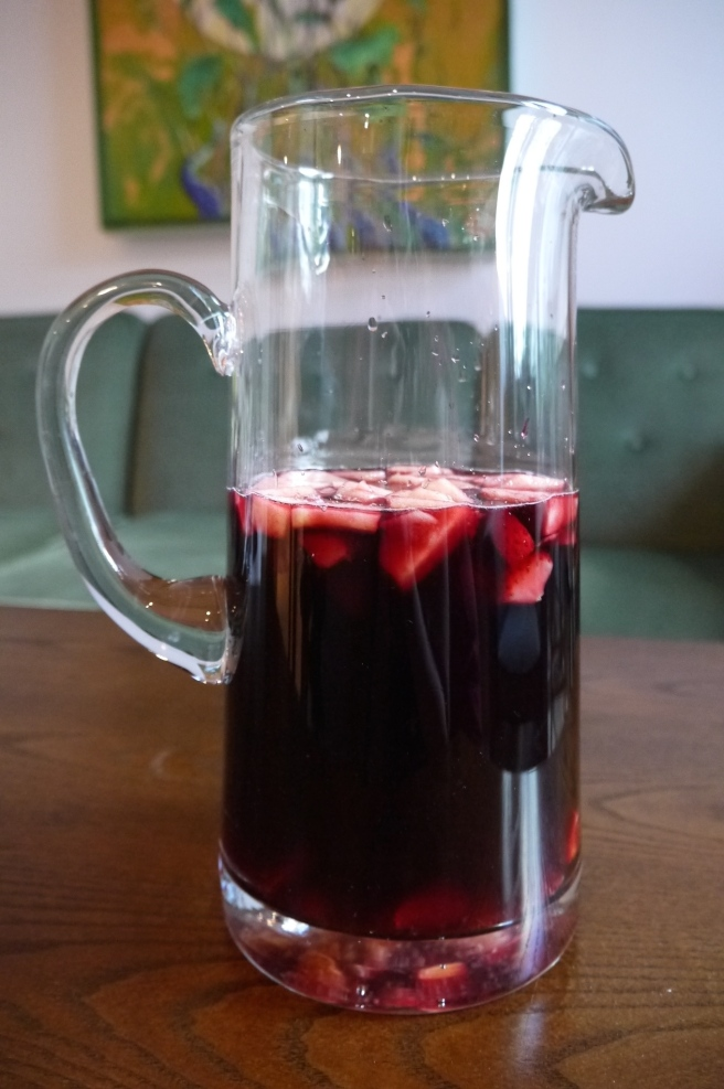 red wine sangria - trust in kim