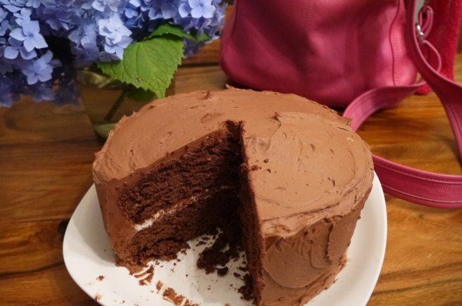 chocolate birthday cake - trust in kim