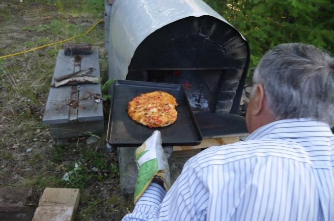 baking in a brick oven - trust in kim
