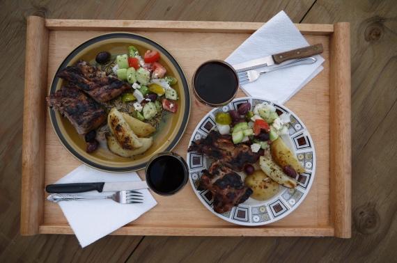 greek rib dinner -trust in kim