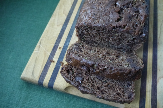 chocolate zucchini loaf - trust in kim