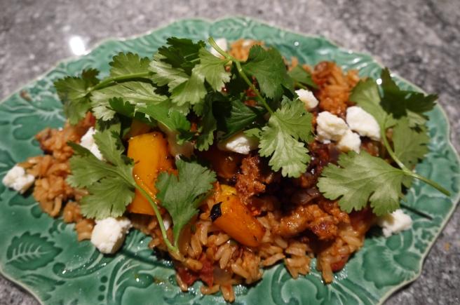 Beans, Rice, Chorizo & Squash