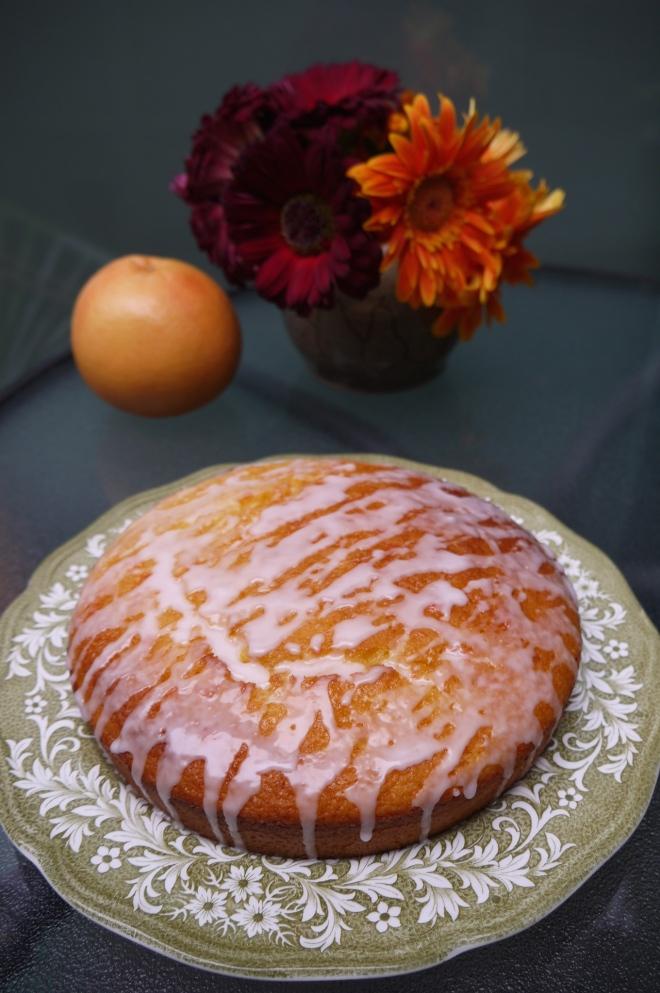 pink grapefruit yogurt cake - trust in kim
