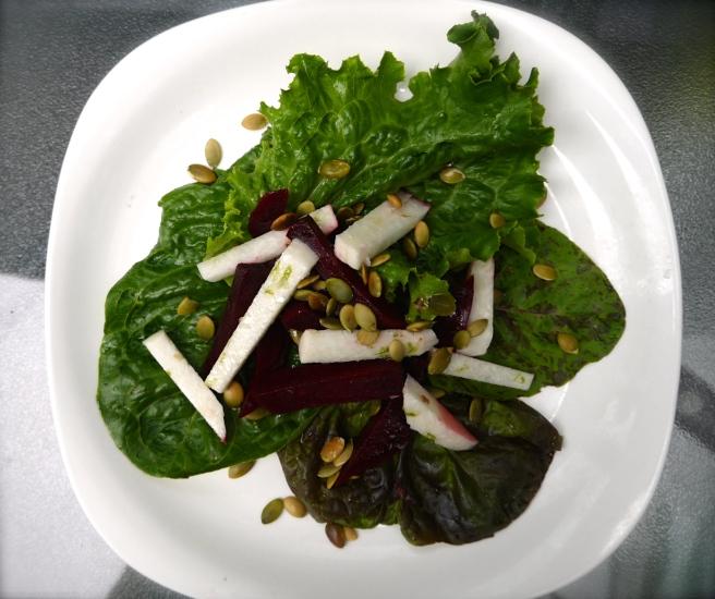 Beet, Jicama and Pepita Salad - trustinkim