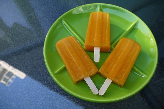 papaya lemon popsicles