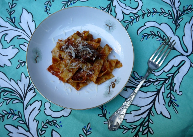 tagliatelle with sicilian meat sauce - trust in kim