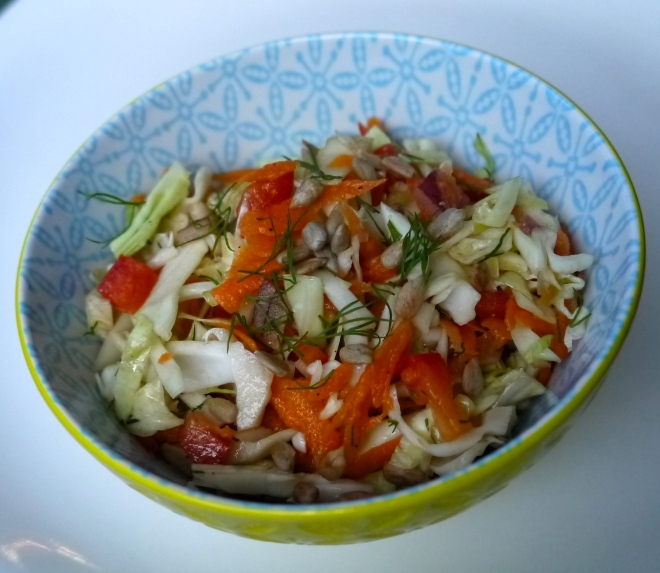 seedy cabbage slaw - trustinkim