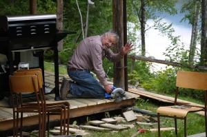 DAD at the cabin - trustinkim