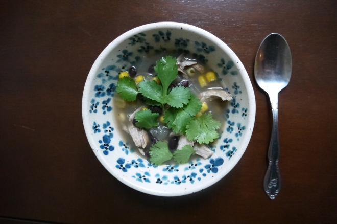 black bean and chicken chowder - trustinkim