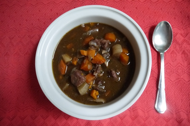 lamb, root vegetable and mushroom stew - trustinkim